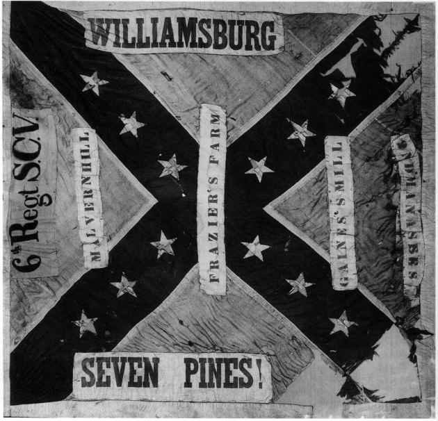Confederate Flags With Battle Honors