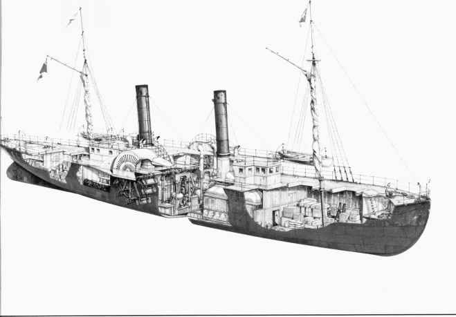 Confederate Blockade Runner