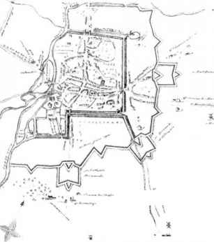The sites in war fortified places mine creek battlefield for Fortified house plans