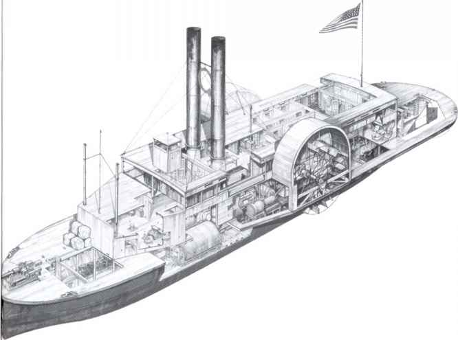 Civil War Gunboat