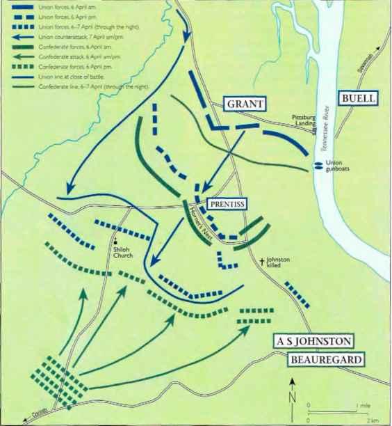Scene Of The Battle Shiloh By Kurtz And Allison