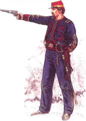 Union Zouave And Rifle Officers Uniforms And Equipment