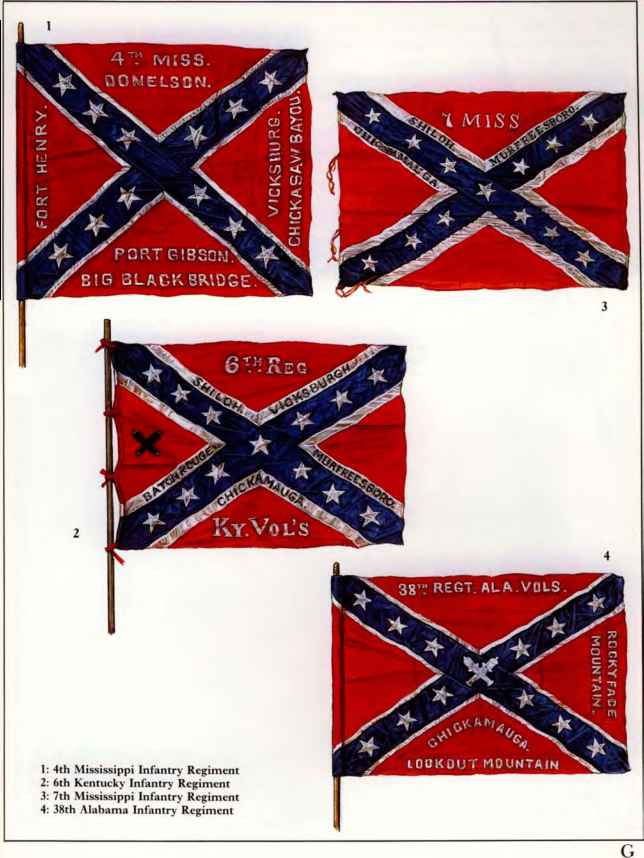 Confederate Infantry Flags