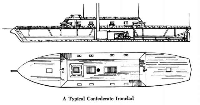 in contrast to the initial hesitation in the north regarding the  construction of ironclads, the confederates, beginning with the very newly  appointed