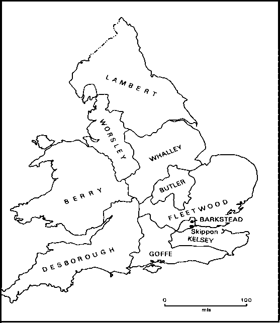 Cromwell Major General Map