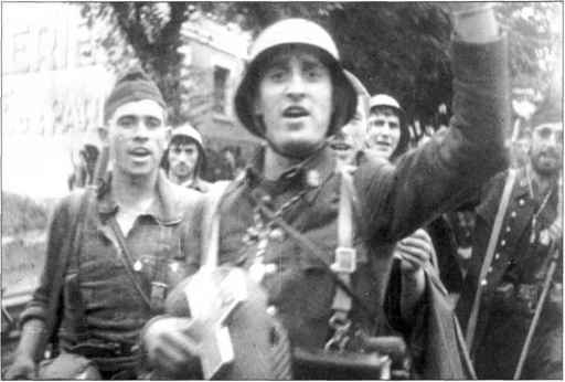 Navarrese Soldiers Spanish Civil War