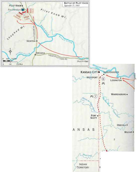Prices Raid in Missouri Septemberoctoberi864 - Union Troops